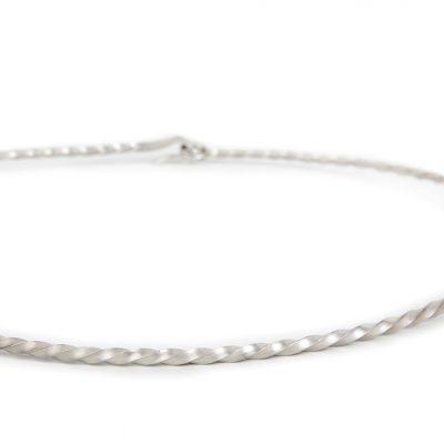 Shop Collar Plata Joyeria Diseno Sostenible Barcino Forja Detall
